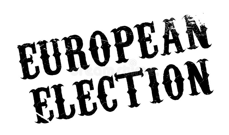 Europawahlstempel lizenzfreie abbildung