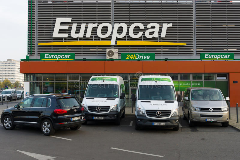 Europcar is a car rental company owned by Eurazeo. BERLIN - OCTOBER 31, 2014: Europcar is a car rental company owned by Eurazeo. Europcar today operates a fleet stock photo