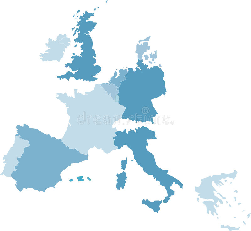 europe środkowa mapa ilustracja wektor