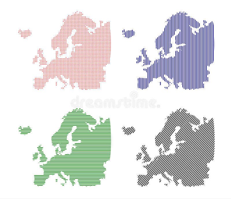 Europe stock illustration