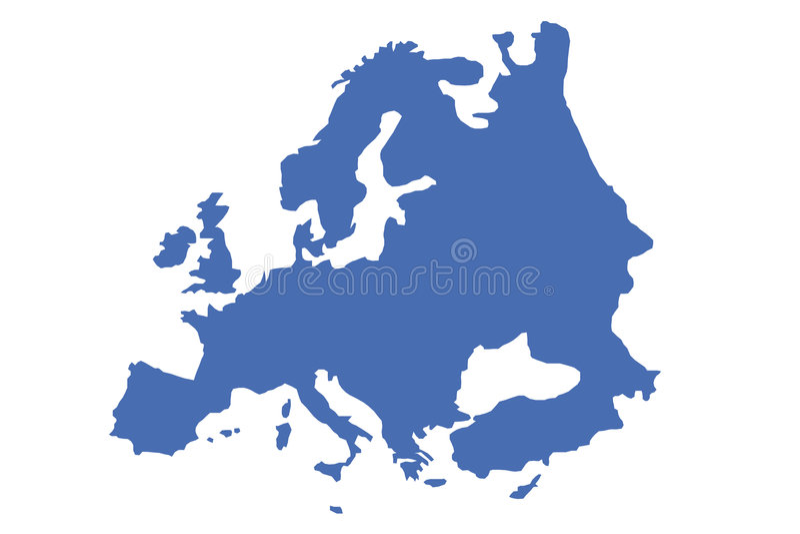 Europe royalty free illustration