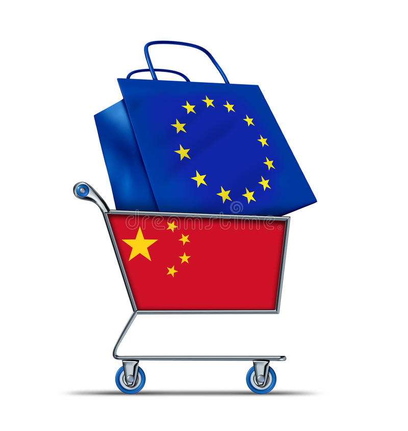 Europe bailout with China buying European debt royalty free illustration