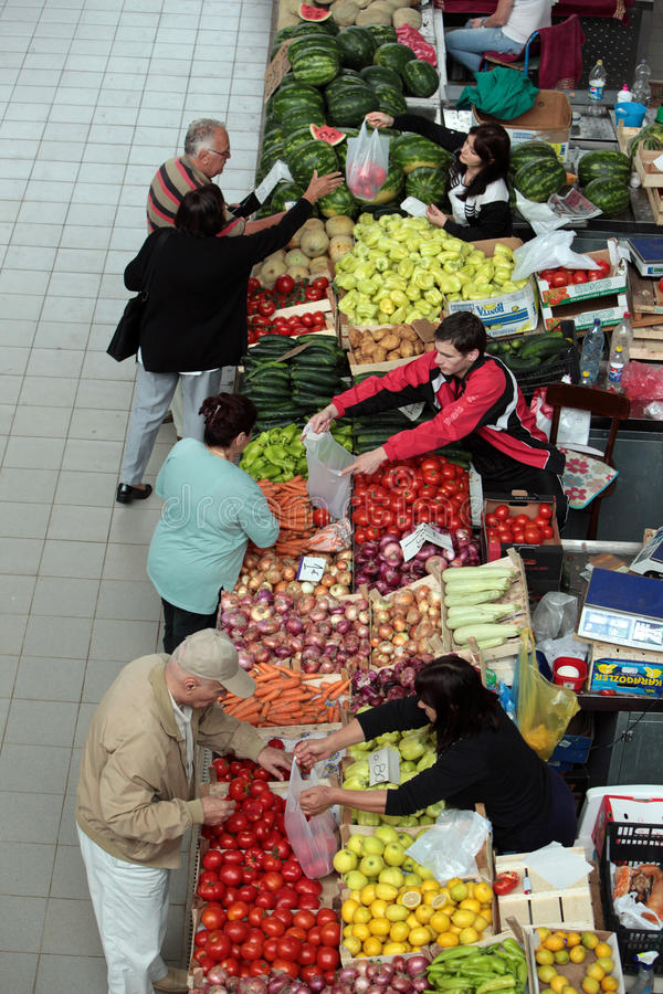 EUROPE BALKAN MONTENEGRO PODGORICA MARKET stock photos