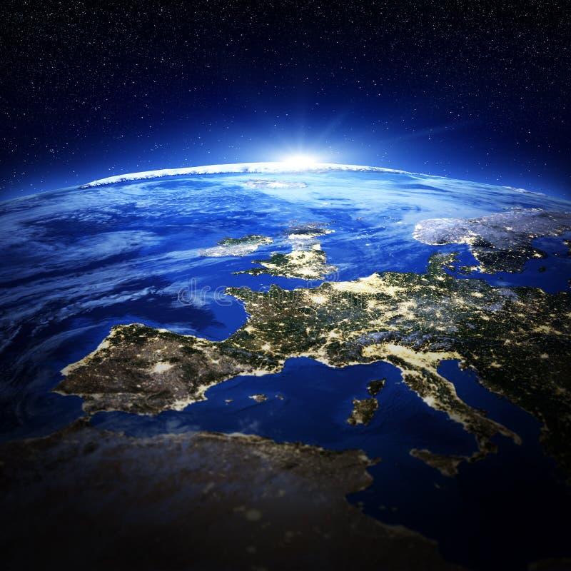 Europe city lights royalty free illustration