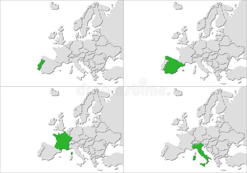 Europe countries stock illustration