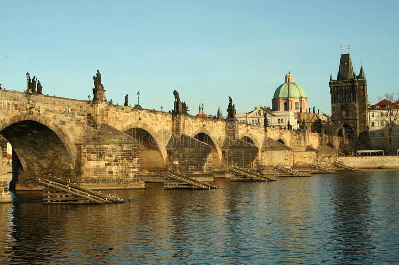 Europe czech republic prague bridge stock image