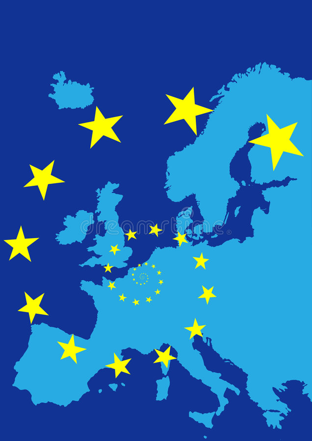 Download Europe With Flag Of European Union Stock Vector - Image: 9303594