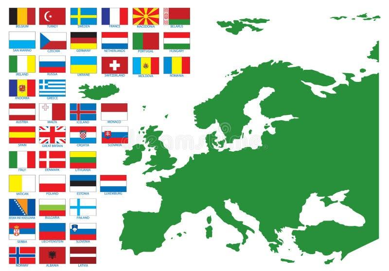 europe flaga royalty ilustracja