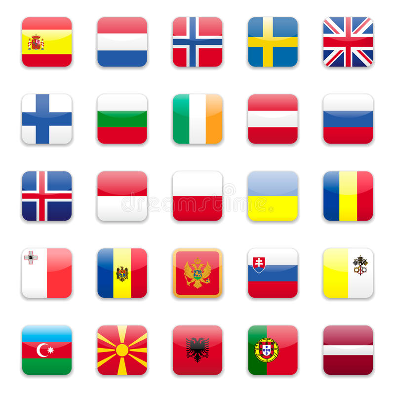 Download Europe flags b stock vector. Image of finland, azerbaijan - 11504221