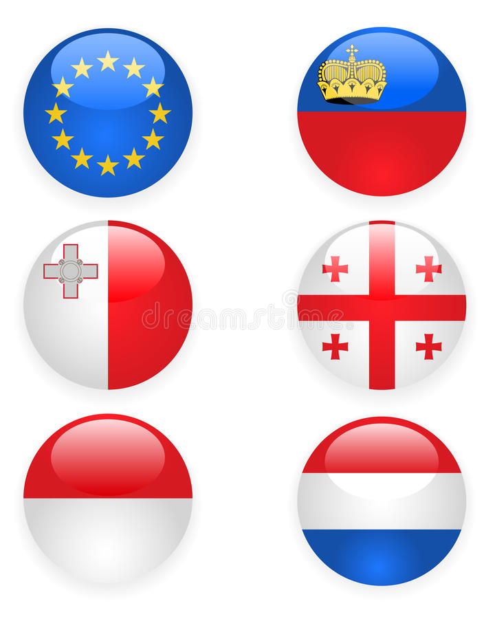 Download Europe Flags Buttons, Part Three Stock Vector - Illustration: 22770634