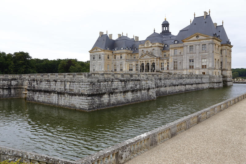 Europe, France, Seine-et-Marne (77), Vaux-le-Vicomte Castle - shot August 2015, inspiration for Chateau Versaille royalty free stock images