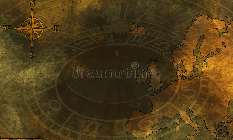 europe grunge mapa ilustracja wektor
