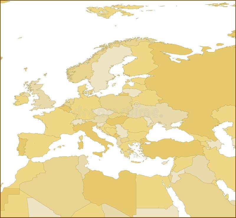 Europe map. royalty free illustration