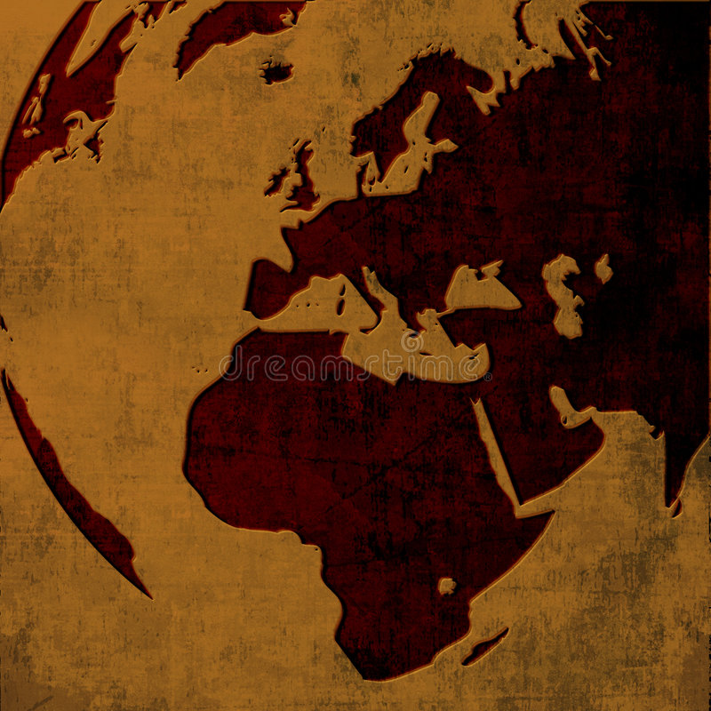 Europe map stock illustration