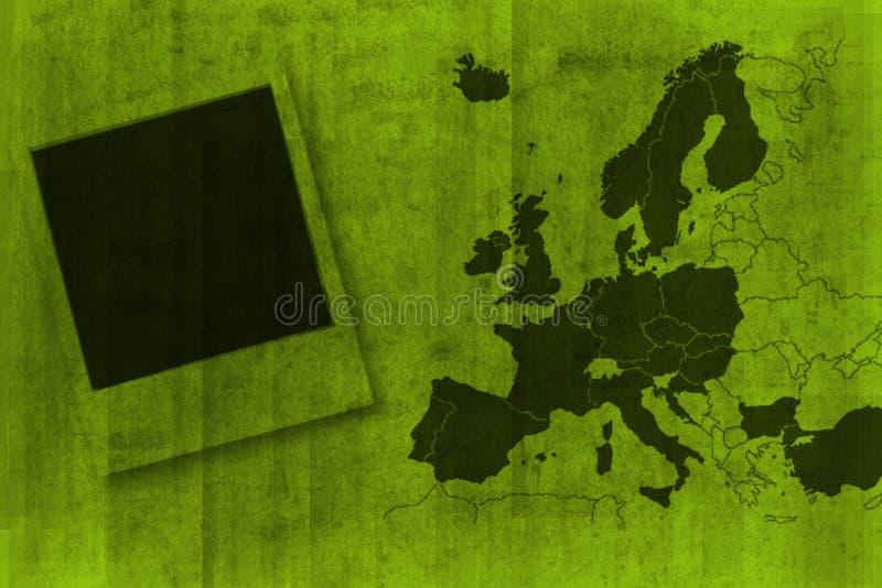 Europe - map - background stock image