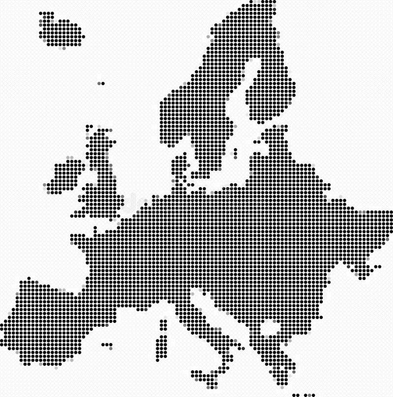 Europe map mosaic