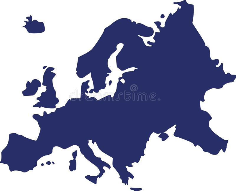 download europe map vector stock vector illustration of vector 107163397