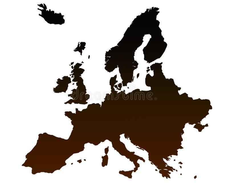 Europe map. On the white background royalty free illustration