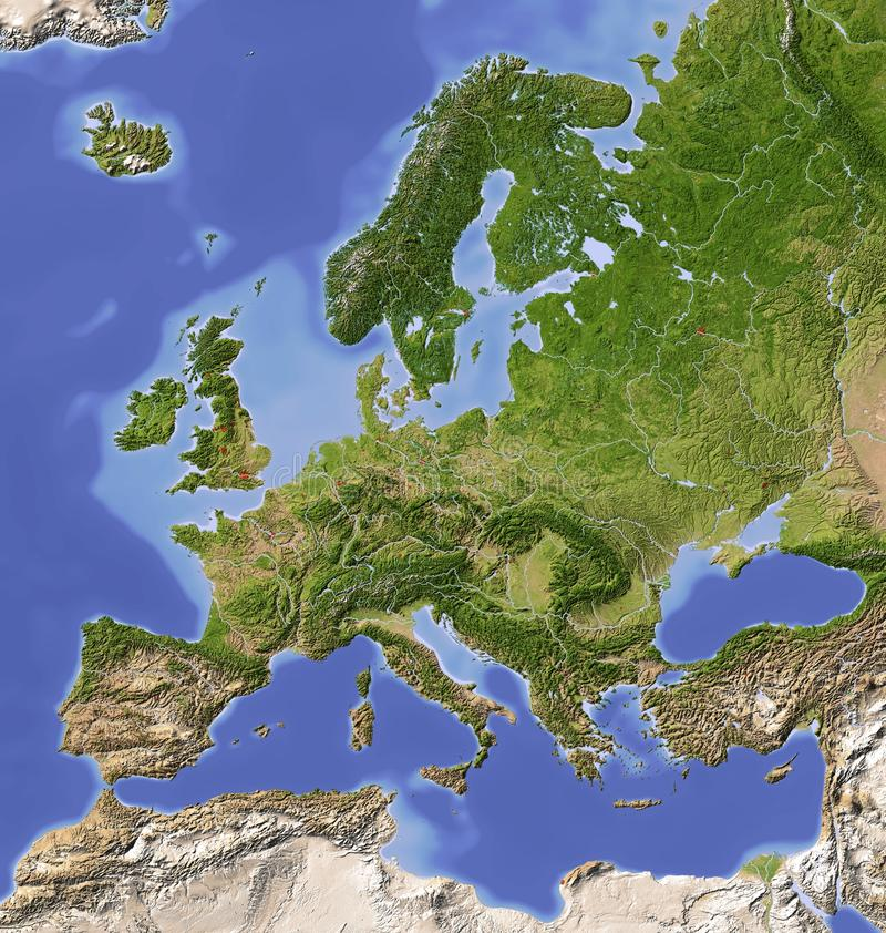 europe mapy ulga cieniąca ilustracji