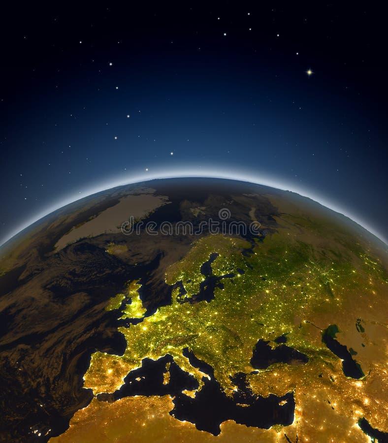 europe noc ilustracji