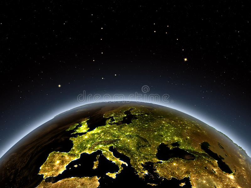 europe noc royalty ilustracja