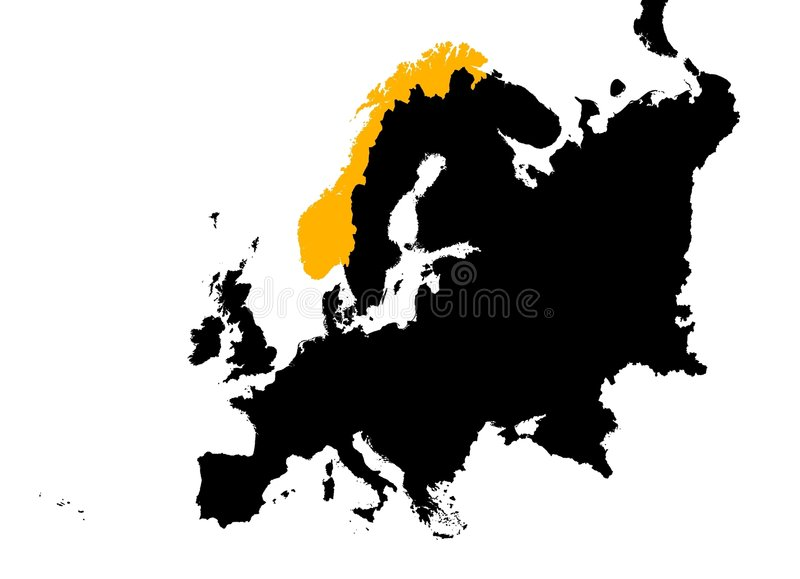 Download Europe with Norway map stock illustration. Illustration of background - 3869112