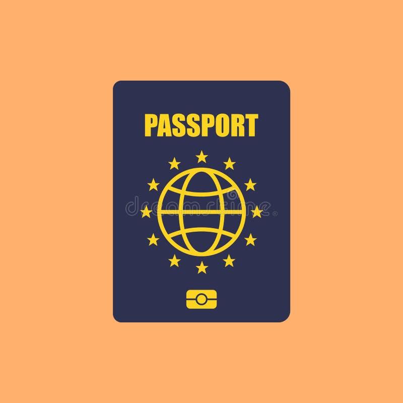 Europe Passport. Isolated on background. Vector illustration. Eps 10 vector illustration