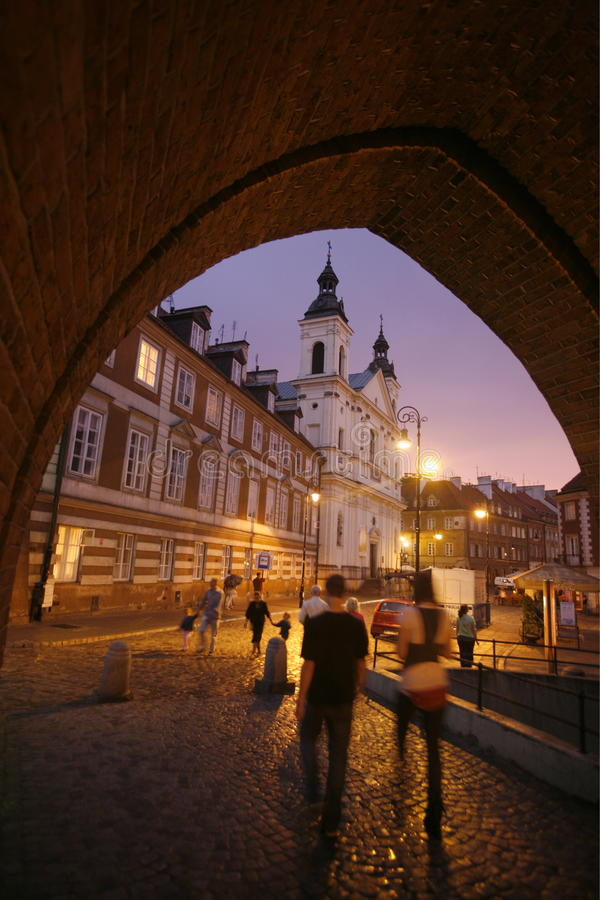 EUROPE POLAND WARSAW CITY. The old town in the City of Warsaw in Poland, East Europe stock photos