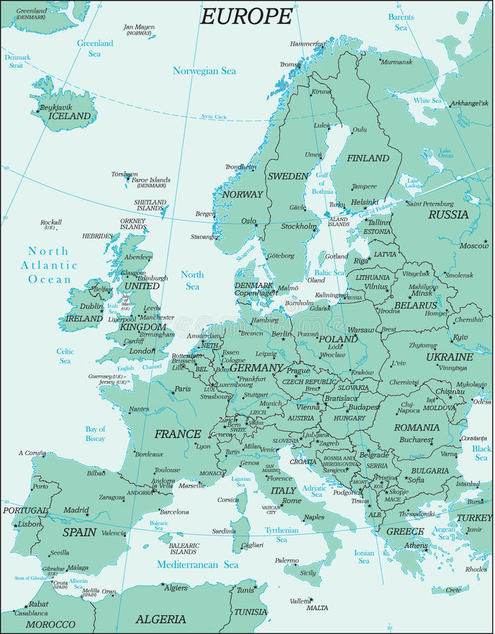 Europe Political Map stock vector Illustration of land 51478955