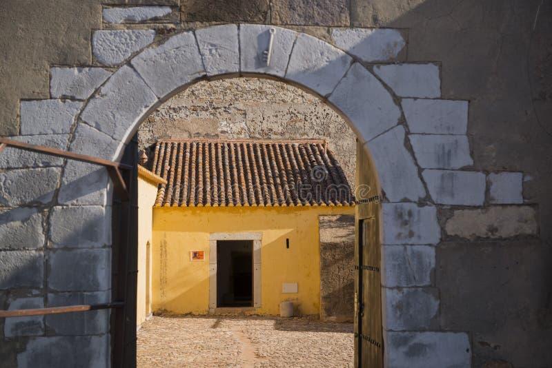 EUROPE PORTUGAL ALGARVE CASTRO MARIM CASTILO. The Castilo in the town of Castro Marim at the east Algarve in the south of Portugal in Europe royalty free stock images