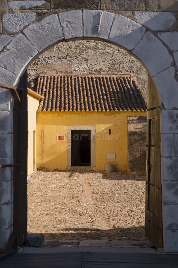 EUROPE PORTUGAL ALGARVE CASTRO MARIM CASTILO. The Castilo in the town of Castro Marim at the east Algarve in the south of Portugal in Europe stock photos