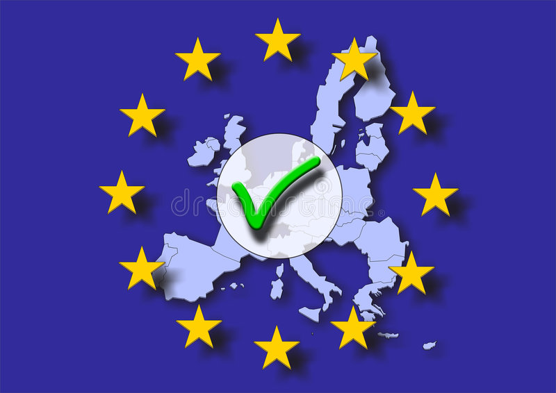 europe pozytywu target838_0_ ilustracja wektor