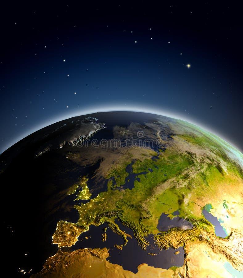 europe przestrzeń ilustracji