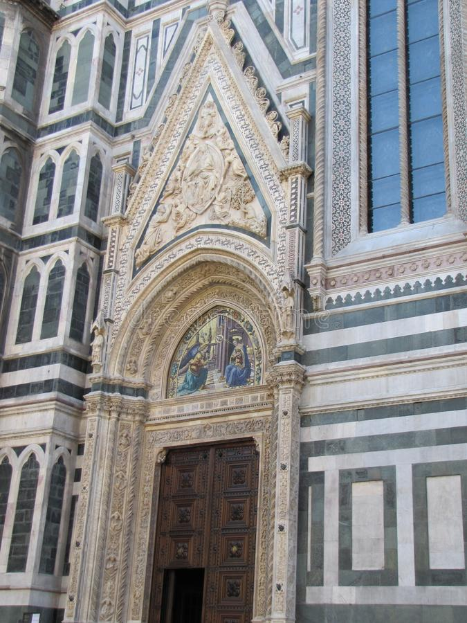 Europe`s fourth largest church,in Florence,Italy,Santa Maria del Fiore. Santa Maria del Fiore is a very large and magnificently decorated church., in Florence stock photos
