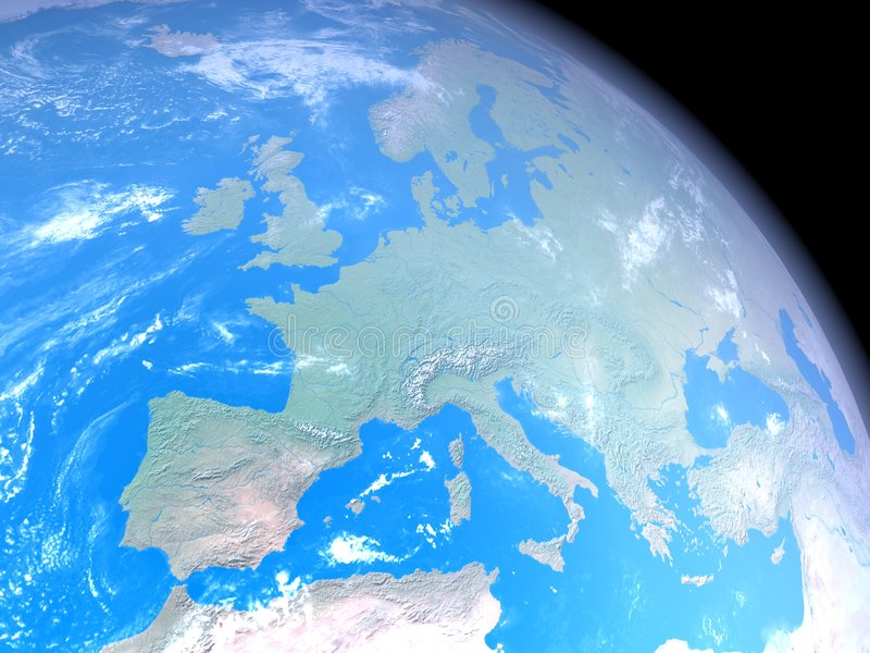 Download Europe from space stock illustration. Image of geography - 8149059