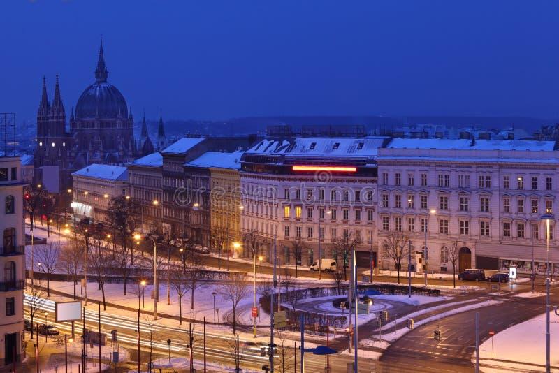 Download Europe Square In Vienna At Dark Winter Night Stock Photo - Image: 27754106