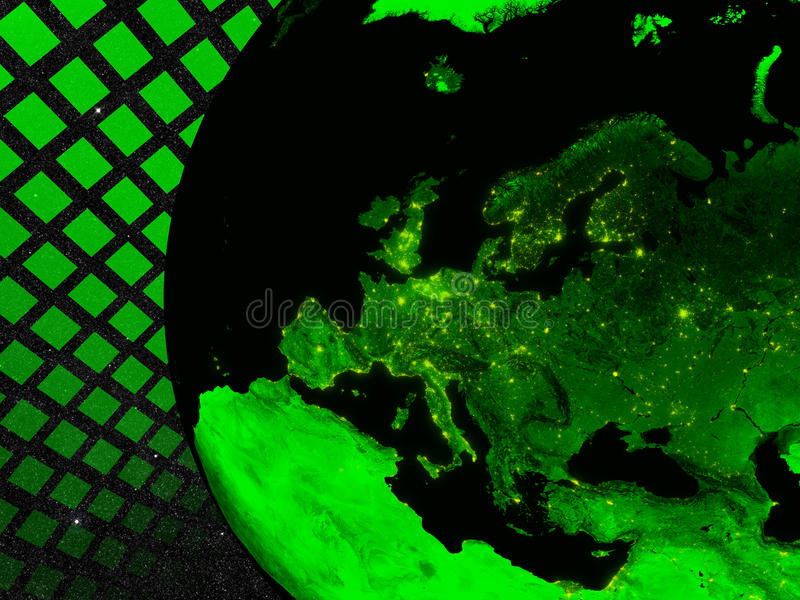 Europe Technology Concept Royalty Free Stock Photography