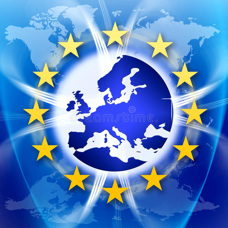 Download Europe Union Flag And Stars Stock Illustration - Image: 21893675