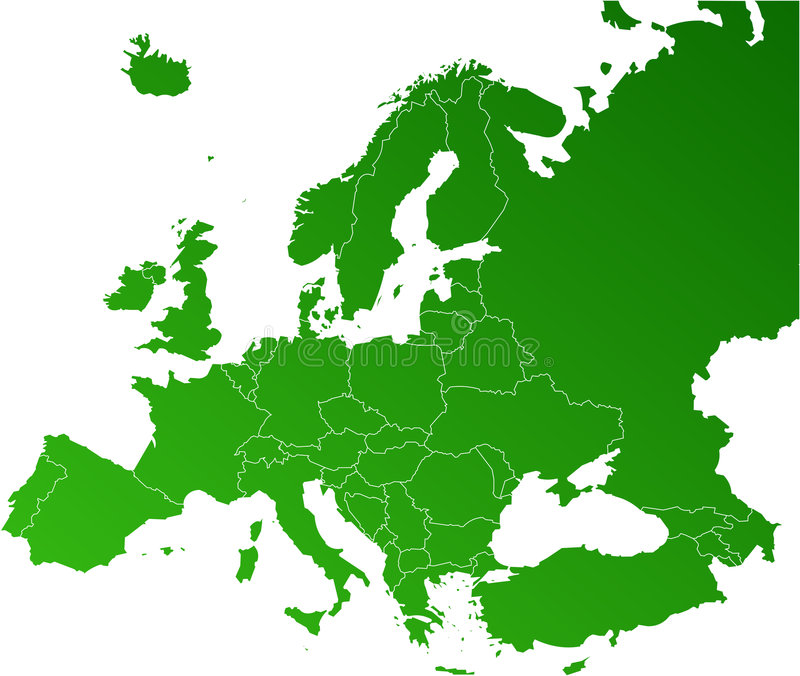 Europe vector map royalty free illustration