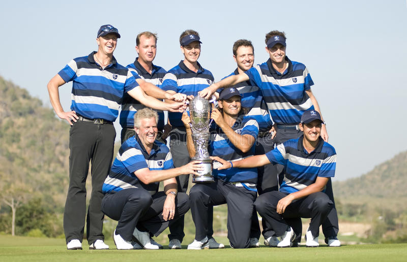 Europe Wins Royal Trophy royalty free stock images