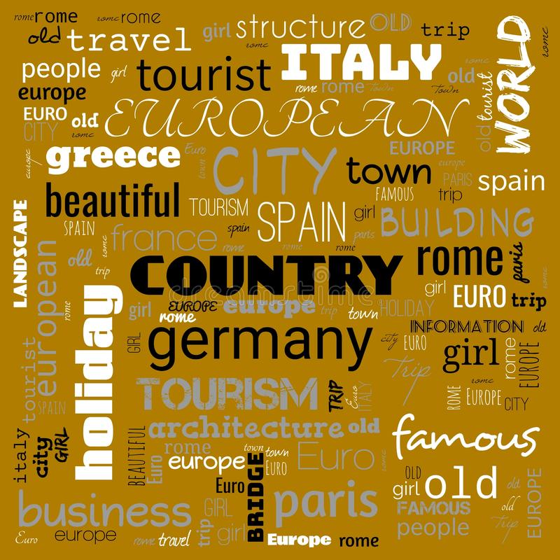 Europe word loud, text,word cloud use for banner, painting, motivation, web-page, website background, t-shirt & shirt printing,. Poster, gritting, wallpaper &# stock photography