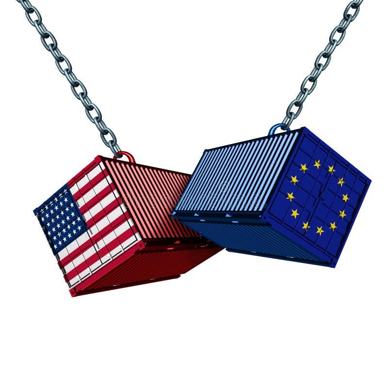 European American Trade War stock illustration