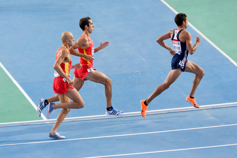 European athletics race stock photography