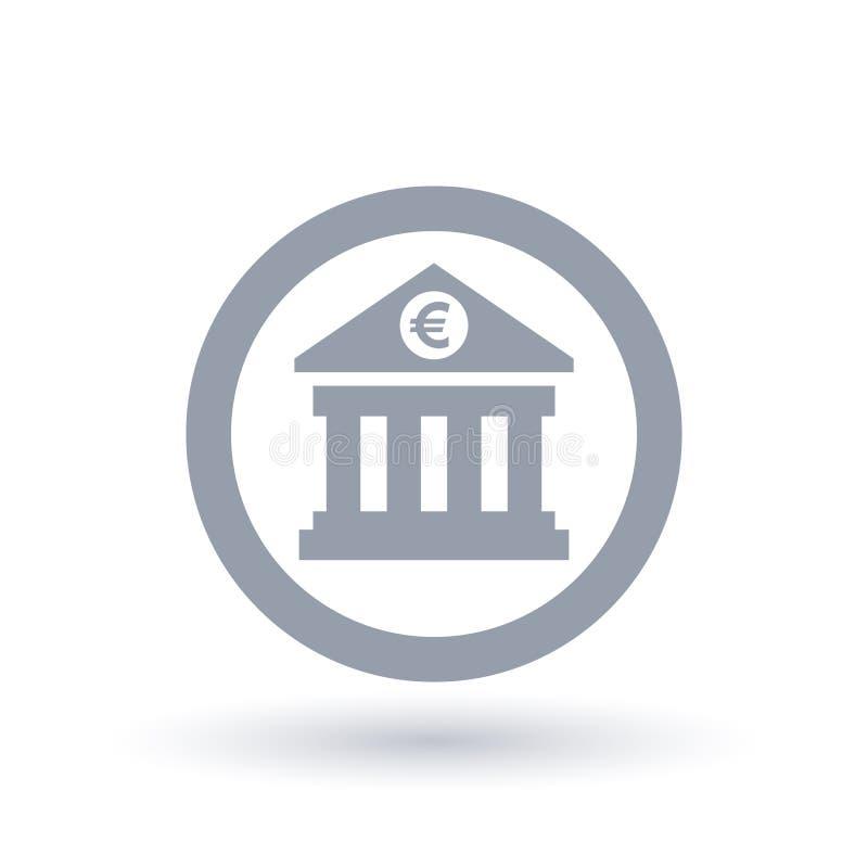 European Bank Icon Eu Euro Banking Symbol Stock Vector