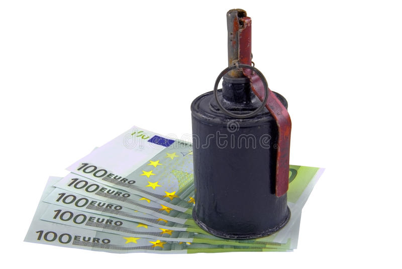 Download European Banknotes And Hand Grenade Stock Photo - Image: 19605840