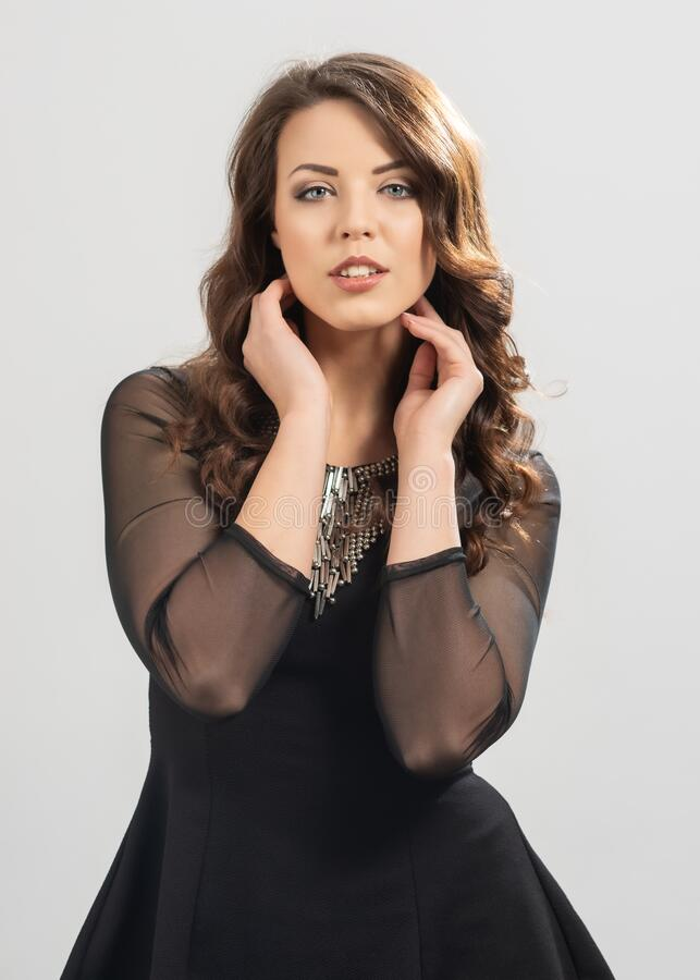 Portrait Of European Woman royalty free stock image