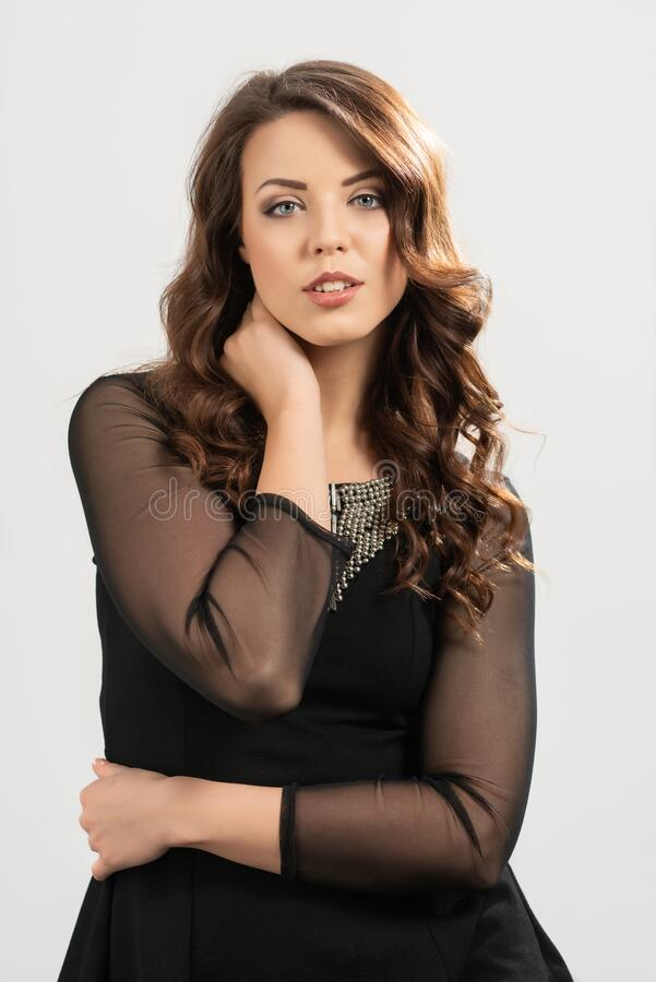 Portrait Of European Woman royalty free stock images