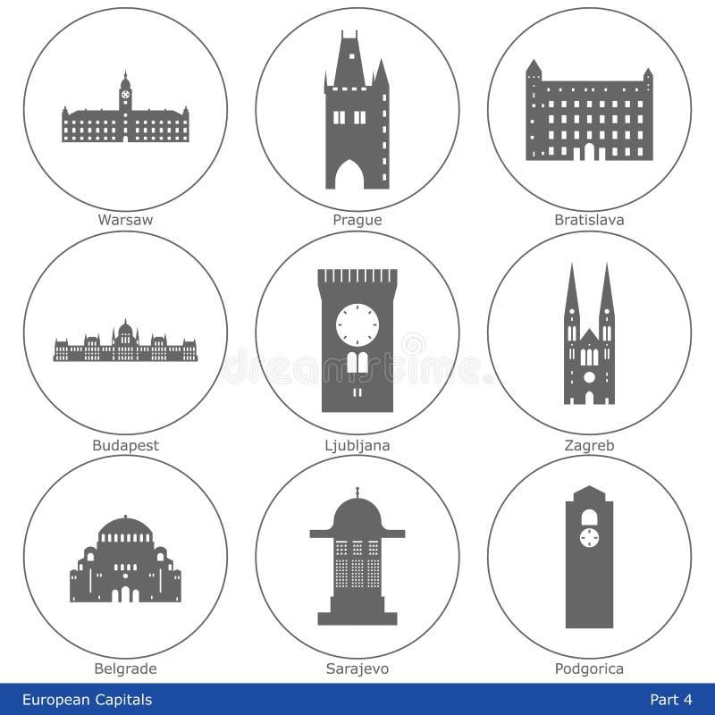 European Capitals - Icon Set (Part 4) Royalty Free Stock Image