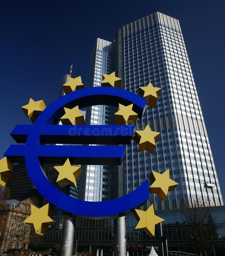 European Central Bank. President Jean-Claude Trichet, according to Market Watch, surprised investors Thursday (March 3, 2011), signaling that policy makers are royalty free stock photo