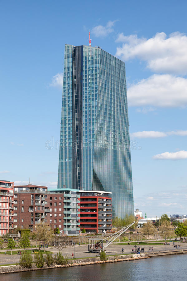European Central Bank (ECB) in Frankfurt royalty free stock photos